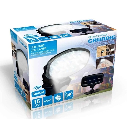 LED-valgusti päikesepatareiga, Grundig
