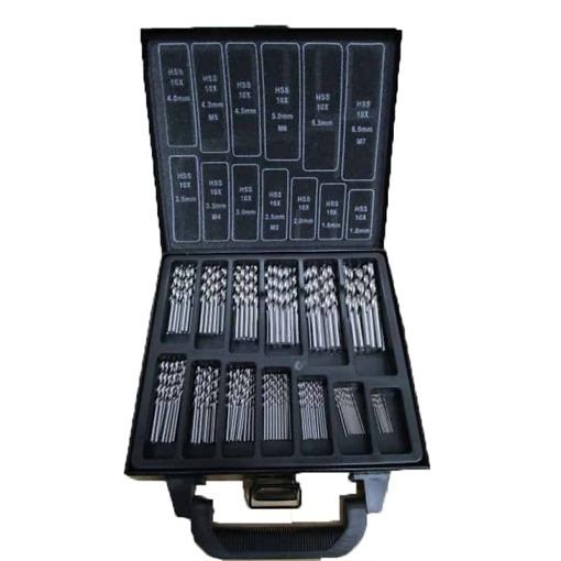 HSS puuride komplekt 1-6 mm, 130 osa