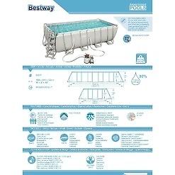 Bassein 488x244x122 cm Bestway Power Steel